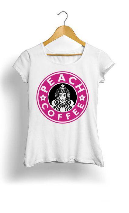 Camiseta Feminina Tropicalli Peach coffee