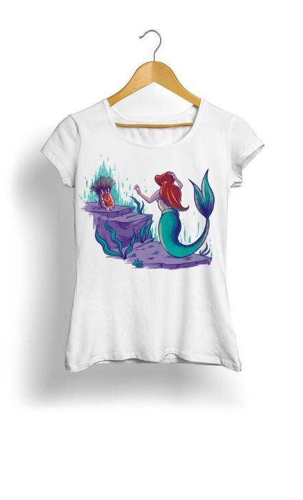 Camiseta Feminina Tropicalli Pequena sereia