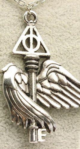 Colar Harry Potter Relíquias da Morte Asa voadora Presentes Criativos - Nerd e Geek - Presentes Criativos