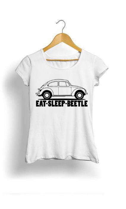 Camiseta Feminina Tropicalli Eat sleep beetle