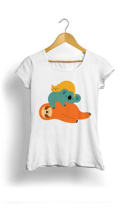 Camiseta Feminina Tropicalli Laziness