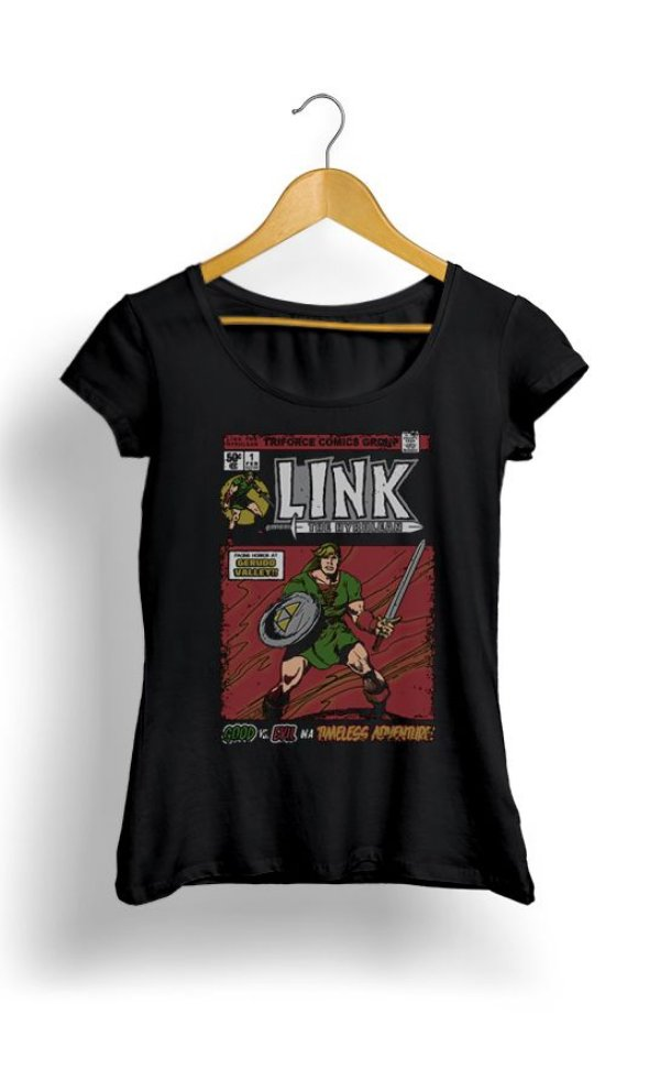 Camiseta Feminina The Legend of Zelda - Link