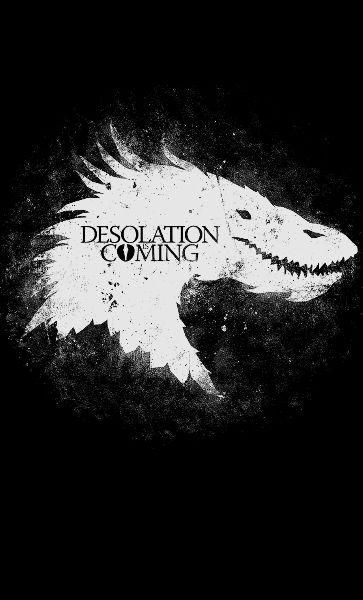 Camiseta Feminina Game of Thrones Desolation Coming