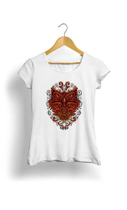 Camiseta Feminina Tropicalli Beautiful fox
