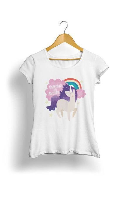 Camiseta Feminina Tropicalli Unicorn
