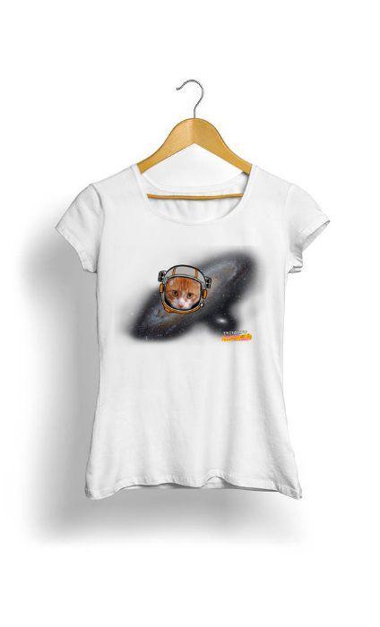 Camiseta Feminina Tropicalli Cat space