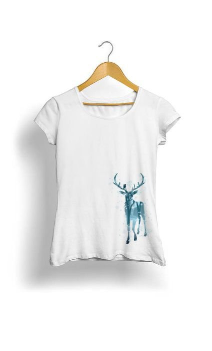 Camiseta Feminina Tropicalli Winter Deer
