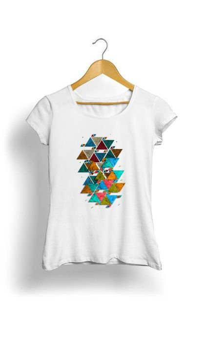 Camiseta Feminina Tropicalli Vintage Geometric triangles
