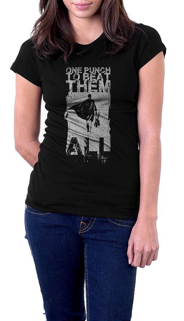 Camiseta Feminina One punch to beat them