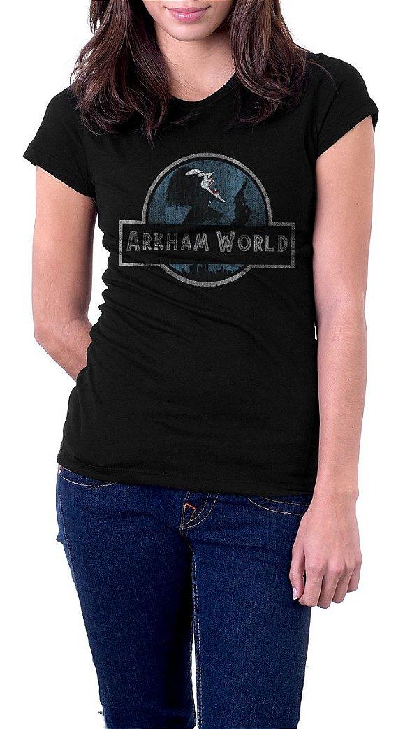 Camiseta Feminina  Arkham Word