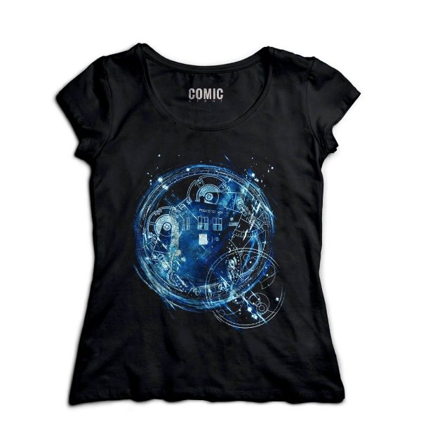 Camiseta Feminina Doctor Who Police Box - Nerd e Geek - Presentes Criativos