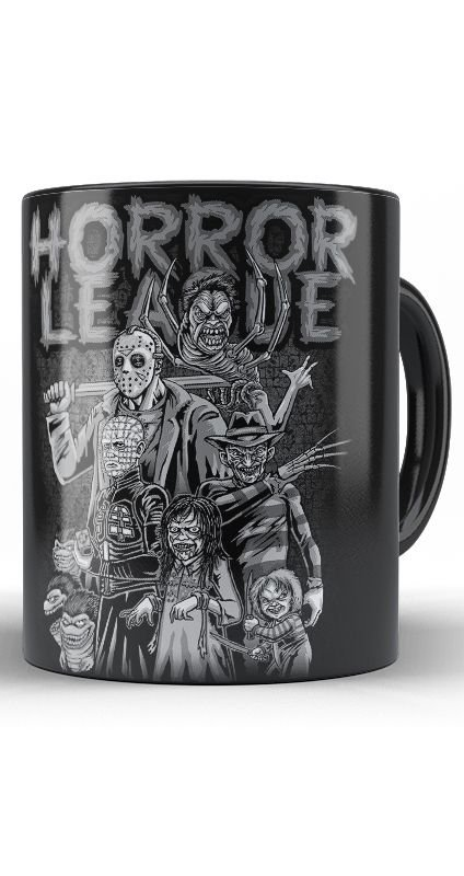 Caneca Horror League - Nerd e Geek - Presentes Criativos