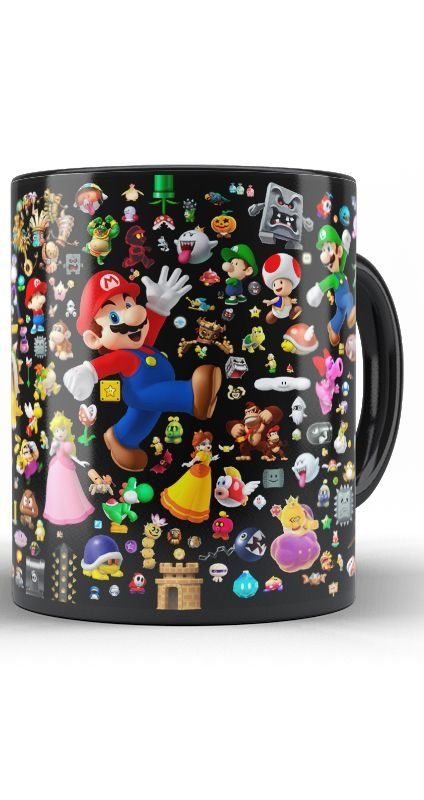 Caneca Super Mario Happy