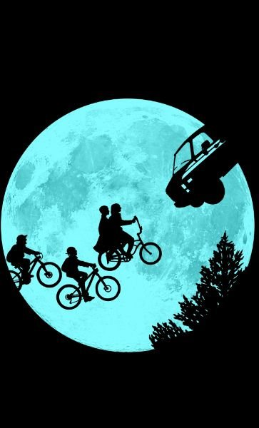 Camiseta Stranger Things E.T Movie