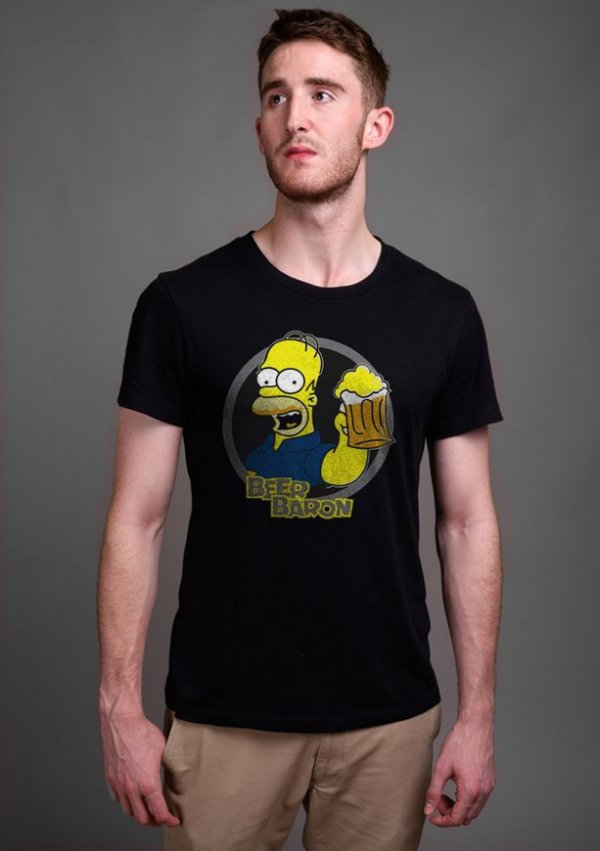 Camiseta Masculina  Simpsons Beer Baron - Nerd e Geek - Presentes Criativos