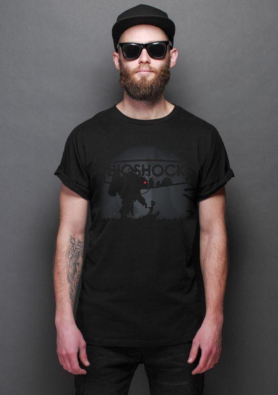 Camiseta Masculina   Bioshock Limbo - Nerd e Geek - Presentes Criativos