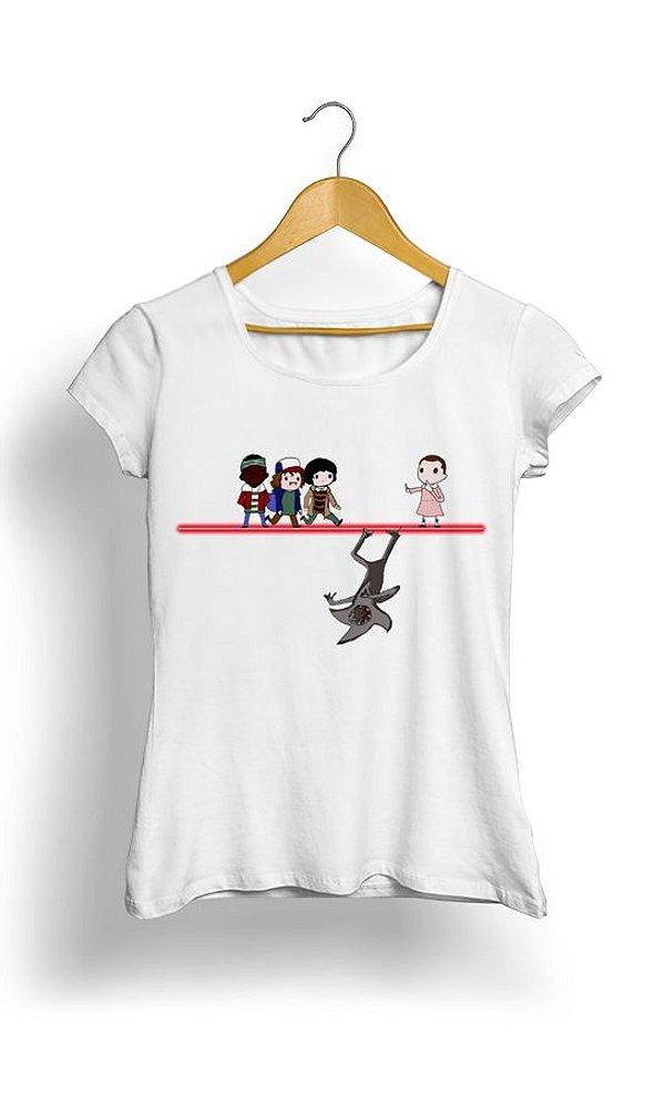 Camiseta Feminina Stranger Things Mononoke Time