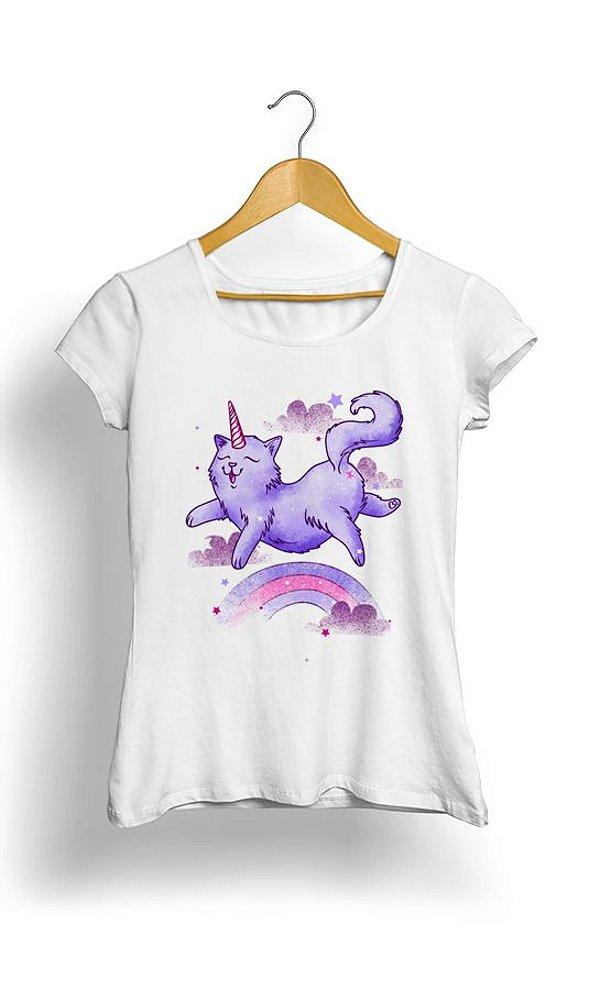 Camiseta Feminina Cat Unicorn