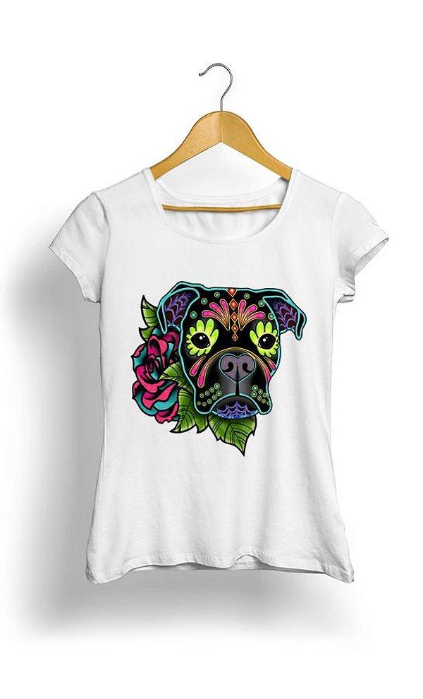 Camiseta Feminina Flourishing Dog