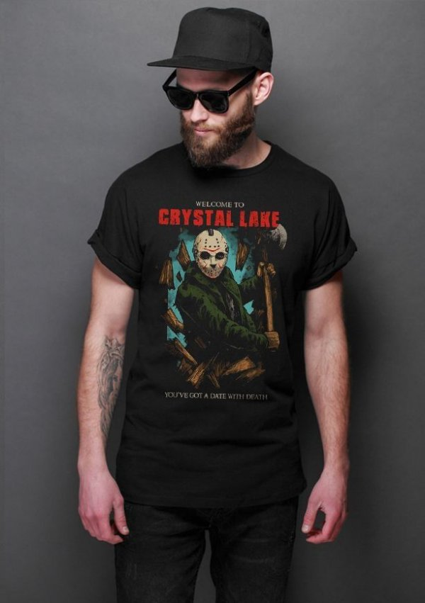 Camiseta Masculina  Jason Crystal Lake - Nerd e Geek - Presentes Criativos