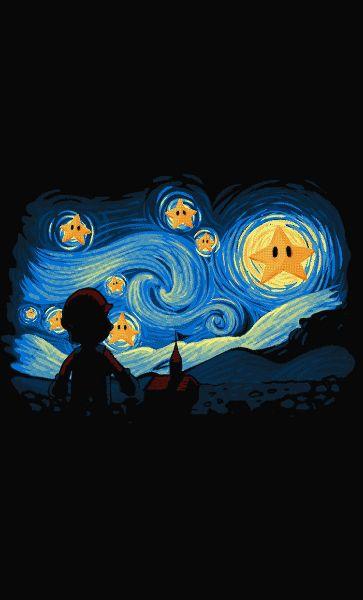 Camiseta Mario Enjoying Art