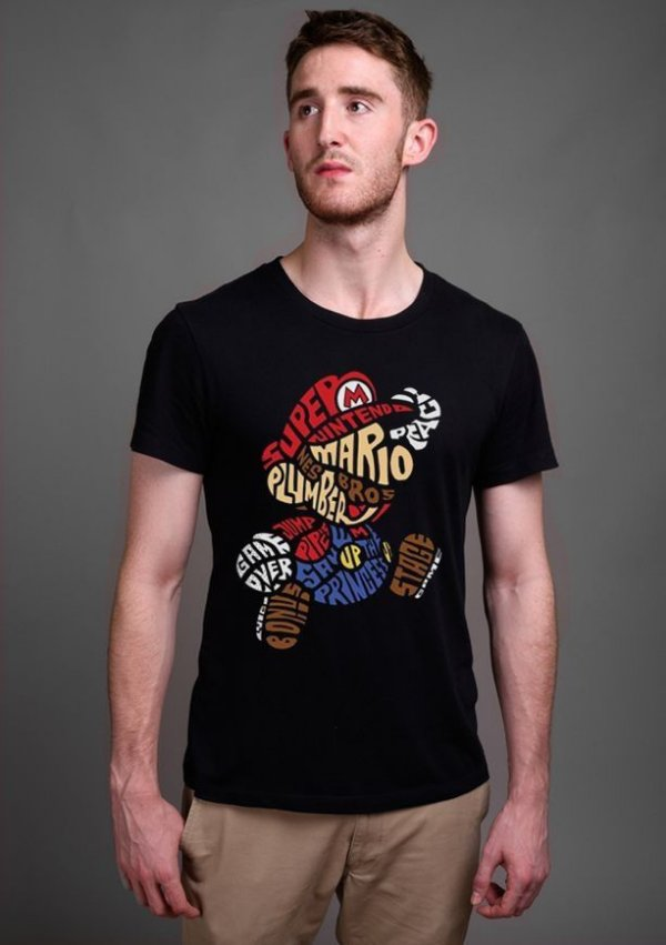 Camiseta Masculina  Super Mario Bros - Nerd e Geek - Presentes Criativos