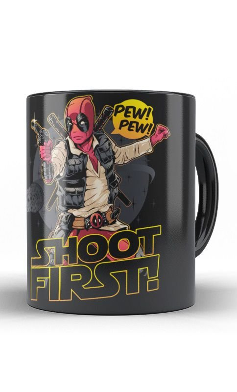 Caneca Deadpool Shot Firts