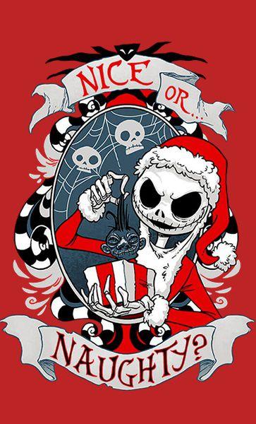 Camiseta Jack Skellington - Nice Or Naughty ?