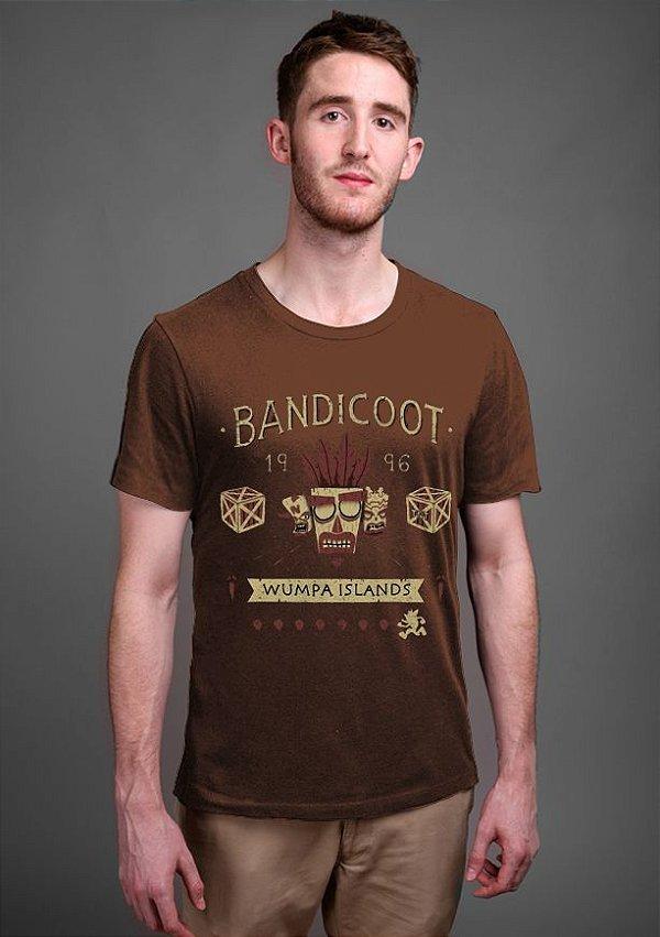 Camiseta Masculina AKU AKU Wumpa Island's - Nerd e Geek - Presentes Criativos