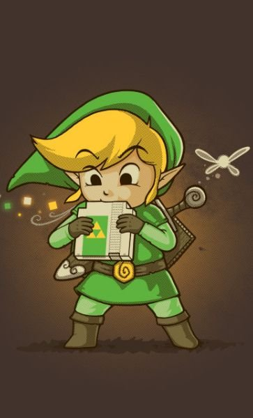 Camiseta The Legend Of Zelda Link Book