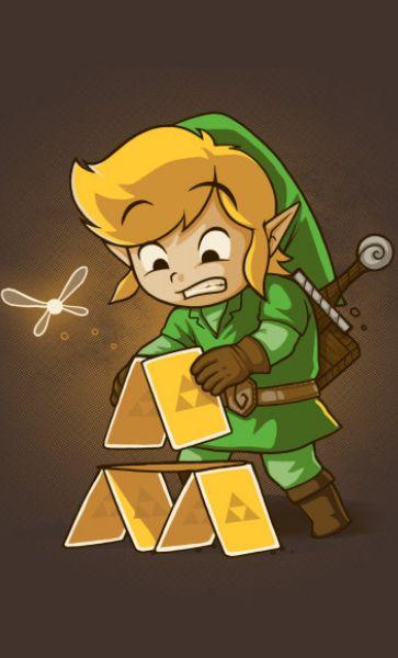 Camiseta The Legend Of Zelda Triforce Letters