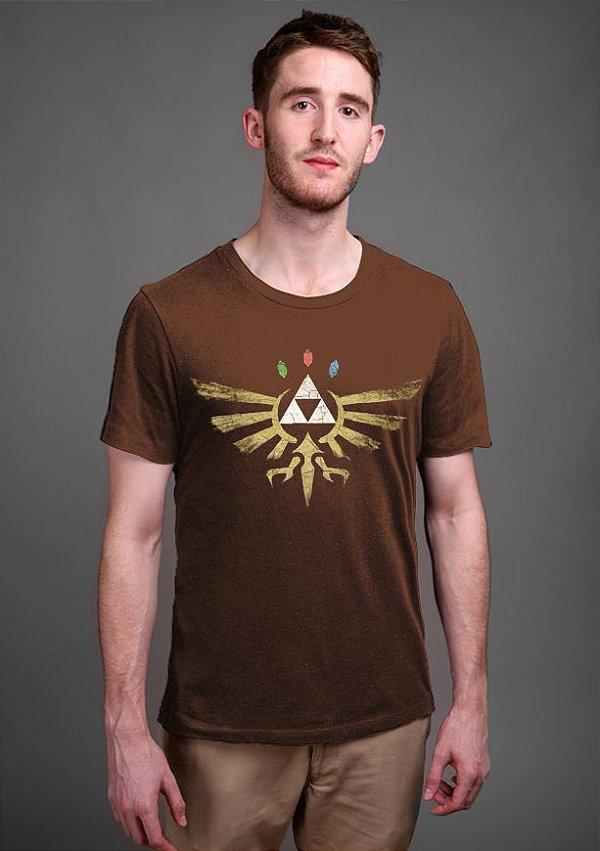 Camiseta Triforce Zelda - Nerd e Geek - Presentes Criativos