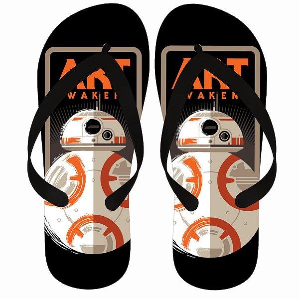 Chinelo Star Wars BB-8 Art Awakens