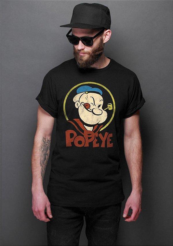 Camiseta Masculina  Popeye - Nerd e Geek - Presentes Criativos