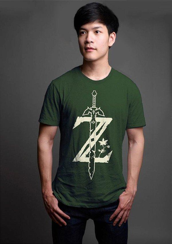 Camiseta Masculina  Legend f Zelda Breath of The Wild - Nerd e Geek - Presentes Criativos