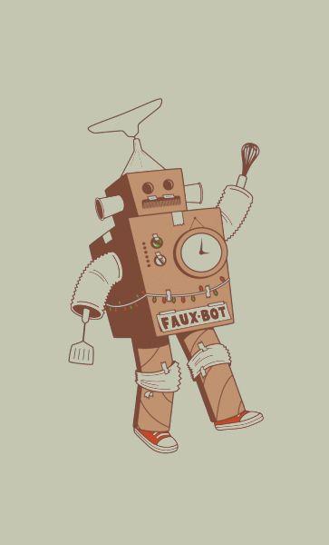 Camiseta Robot Faux-Bot