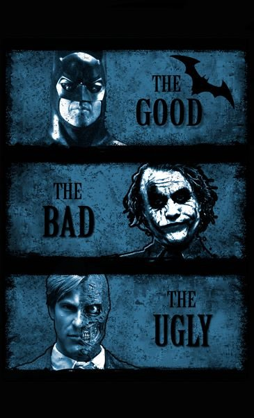 Camiseta Batman The Good The Bad