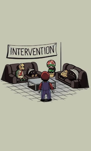 Camiseta Mario Intervention