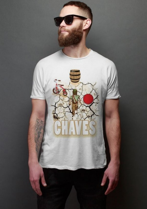 Camiseta Masculina  Chaves - Nerd e Geek - Presentes Criativos