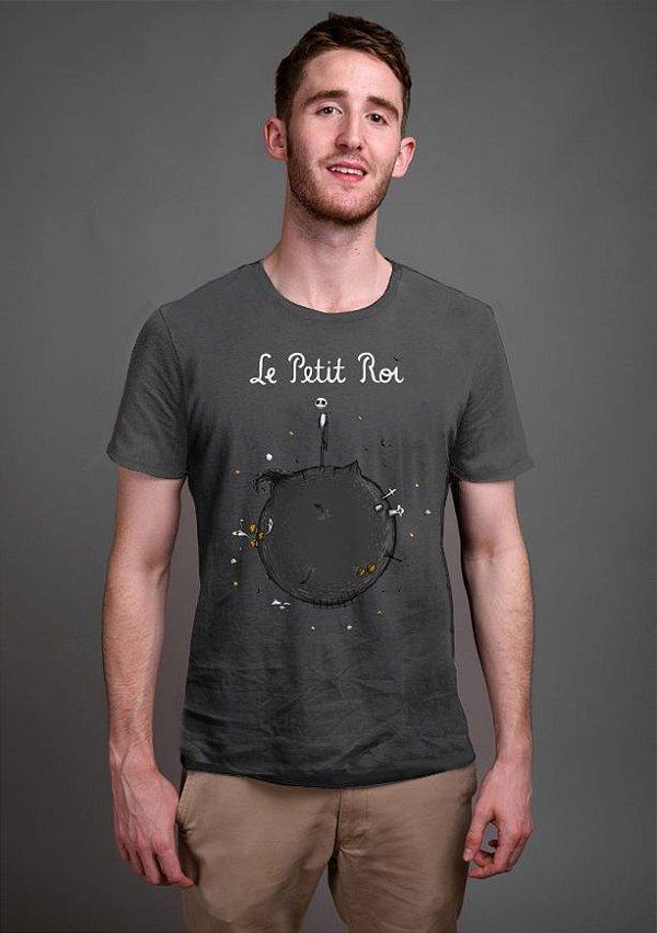 Camiseta Masculina  Skelletion Le Petit Roi - Nerd e Geek - Presentes Criativos