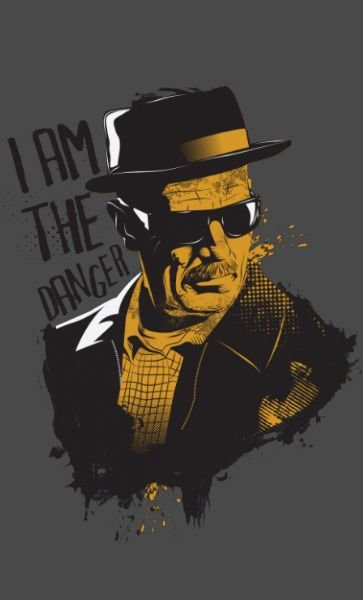 Camiseta  Heisenberg I am the Danger