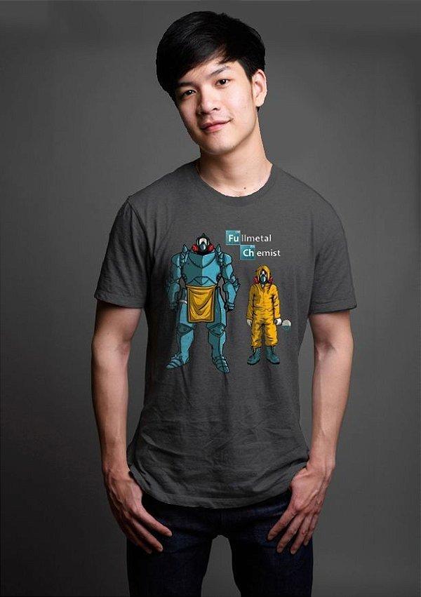 Camiseta Masculina  Heisenberg Fullmental Chemist - Nerd e Geek - Presentes Criativos