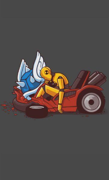 Camiseta Star Wars C-3PO Crash Test Dummy