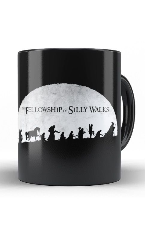 Caneca The Fellowship of Silly Walks - Nerd e Geek - Presentes Criativos