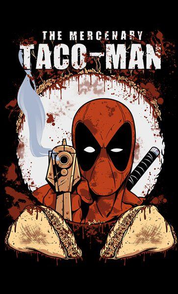 Camiseta Deadpool Taco-Men