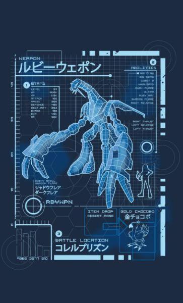 Camiseta  Final Fantasy  Blueprint