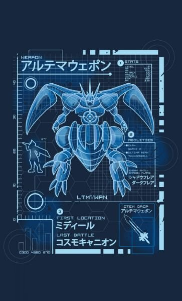 Camiseta  Final Fantasy Ultimate Blueprint