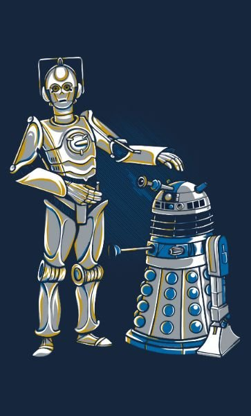 Camiseta Star Wars Cyber3PO and R2Dalek