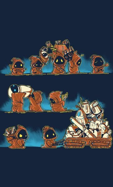 Camiseta Star Wars Jawa Wrong Robots
