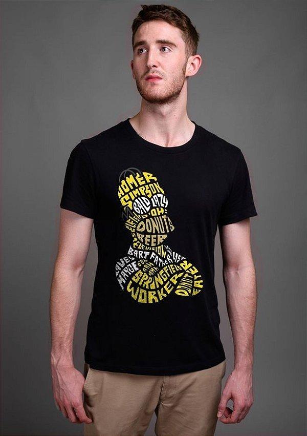 Camiseta Masculina  Homer Simpsons - Nerd e Geek - Presentes Criativos